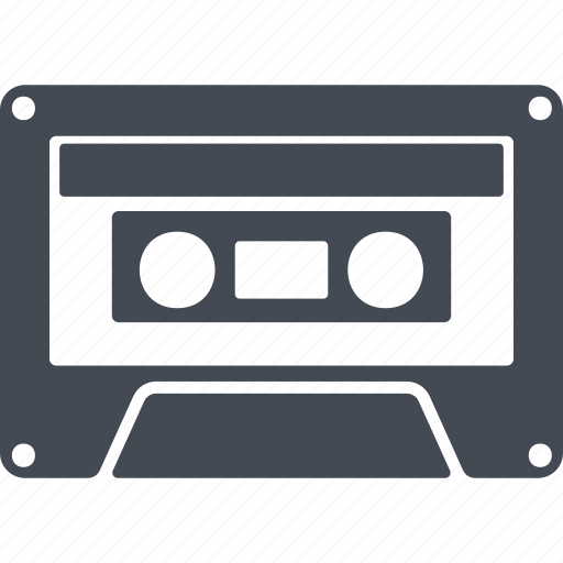 audio cassette, cassette, hipster, record icon