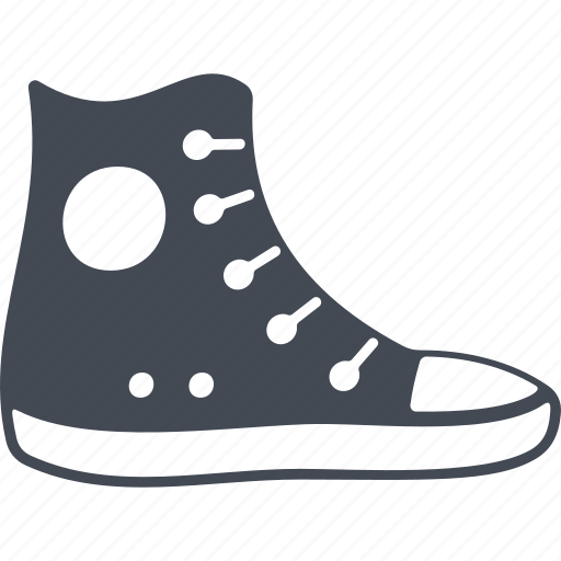 footwear, hipster, sneakers, sport shoes icon