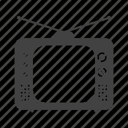 entertainment, old, screen, set, television, tube, tv icon
