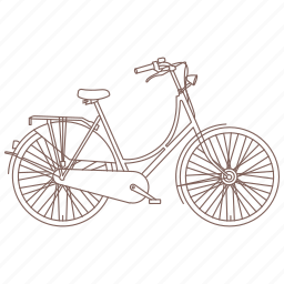 bicycle, bike, commuter, cruiser, cycle, hipster, vintage icon