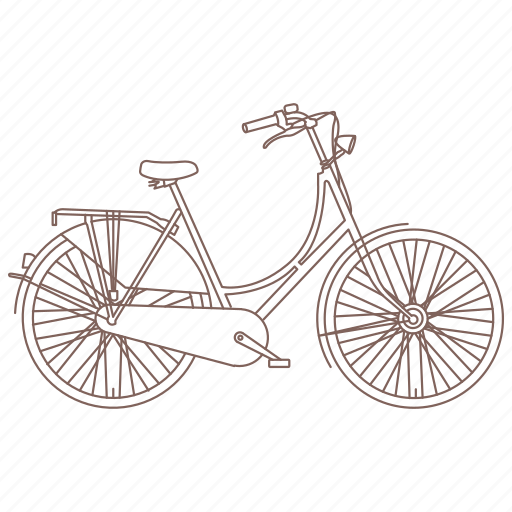 bicycle, bike, commuter, cruiser, cycle, vintage icon