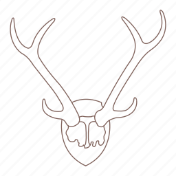 antlers, decoration, deer, hipster, horns, stag, wall icon