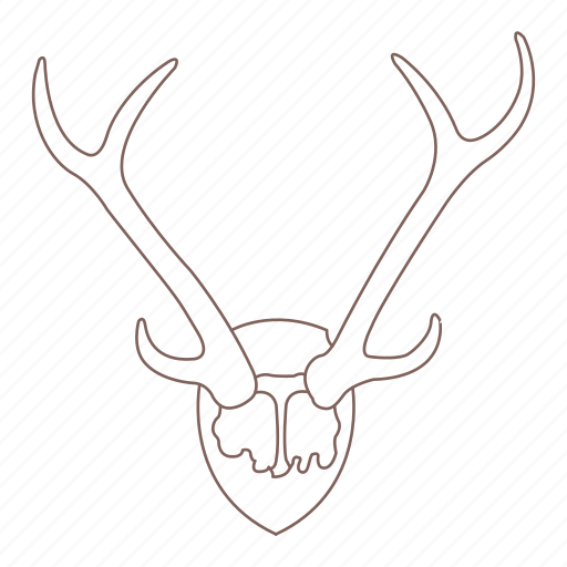 antlers, decoration, deer, horns, stag, wall icon