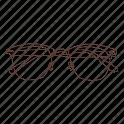 glasses, hipster, nerd, prescription, reading icon