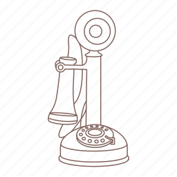dial, hipster, microphone, phone, receiver, telephone, vintage icon