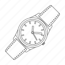 attribute, clock, hipster, retro, style, time, wristwatch icon