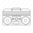 hipster, jazz, music, recorder, retro, style, tape icon