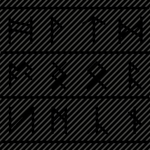century, history, runes, scandinavian, scandinavian runes icon