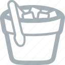 bar, bucket, drinks, ice, ice bucket, ice cubes icon
