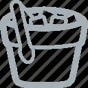 bar, bucket, drinks, ice, ice bucket, ice cubes