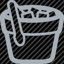 bar, bucket, drinks, ice, ice bucket, ice cubes icon