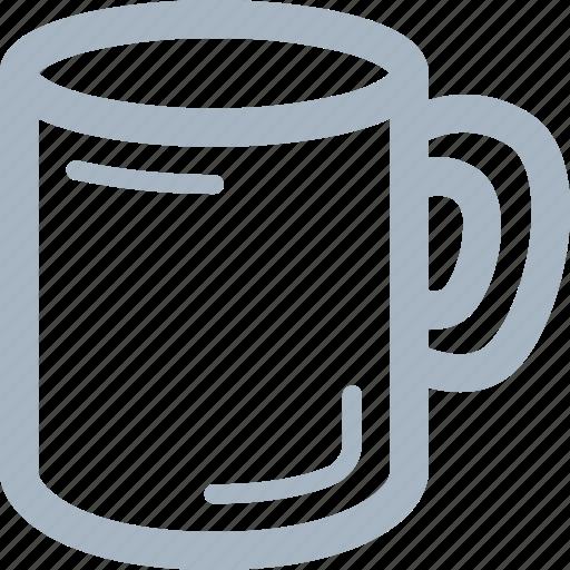 glass, handle, mug icon