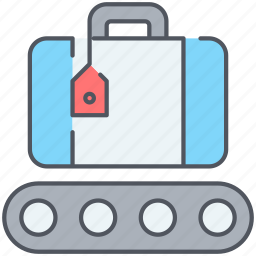 bag, baggage, claim, luggage, tourism, travel, vacation icon