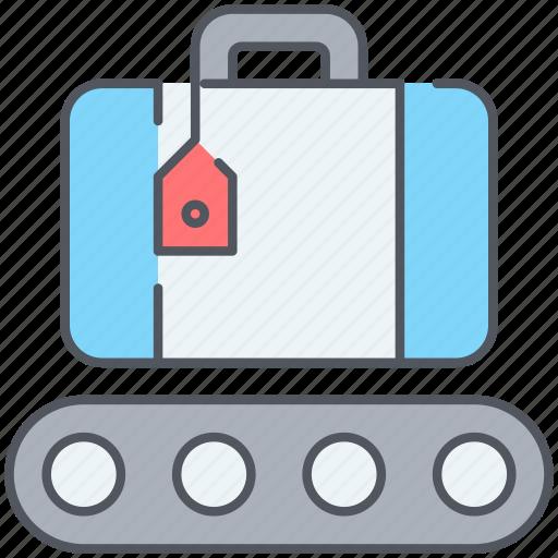 bag, baggage, claim, luggage, tourism, travel, vacation icon