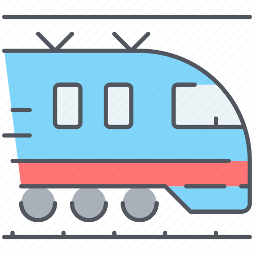 electric, journey, ralway, train, transport, travel, vacation icon
