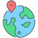 globe, gps, location, market, place, travel, vacation icon