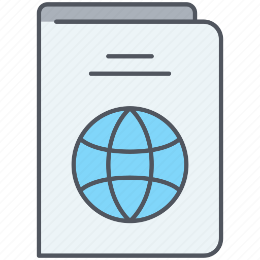 control, identification, passport, permit, travel, vacation, visa icon