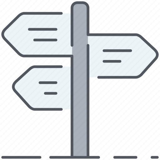 crossroad, directions, guidepost, intersection, journey, orientation, signposts icon