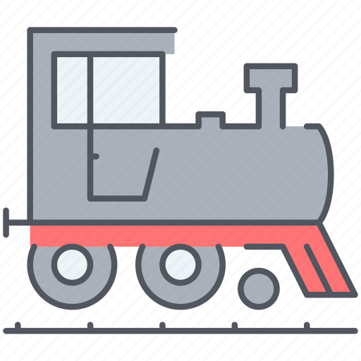 locomotive, railroad, ralway, steam, train, transport, travel icon