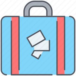 baggage, briefcase, luggage, suitcase, tourism, travel, vacation icon