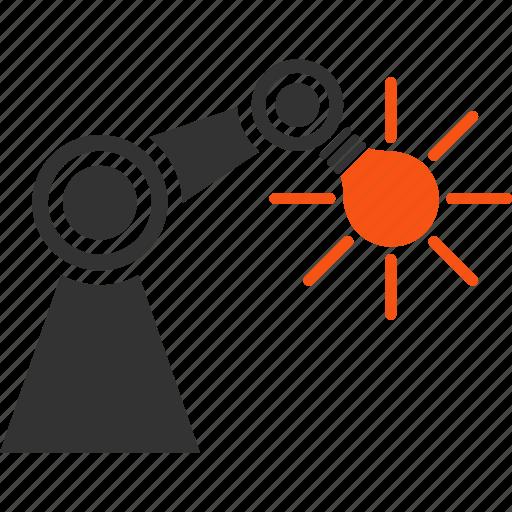 bulb, desk lamp, electricity, energy, illumination, manipulator, technology icon