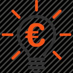 electric bulb, electricity, euro, european, lamp, light, power icon