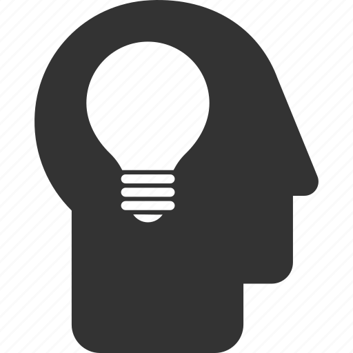 brain, bulb, business idea, education, lamp, mind, think icon