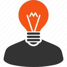 bulb, education, electrician, inventor, lamp, mind, think icon