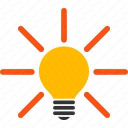 bulb, efficient, electric lamp, illumination, inspiration, invention, light icon