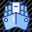 cargo, logistic, ship, shipping, freight