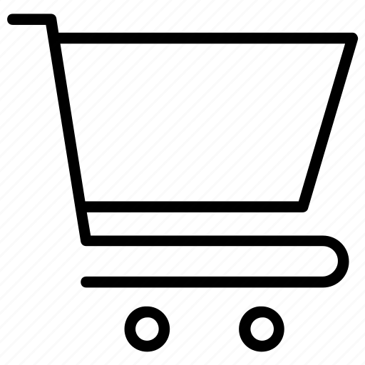 grocery cart, grocery trolly, shopping cart, shopping trolly, store cart icon