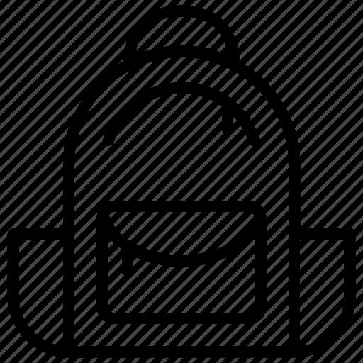 Backpack, baggage, book bag, hiking bag, school bag icon - Download on Iconfinder