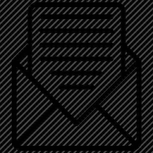 email, envelope, letter, message, newsletter icon
