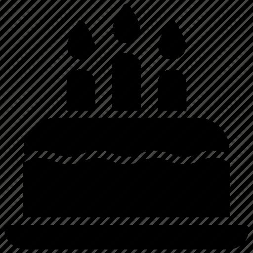 birthday cake, cake, candles, dessert, wedding cake icon