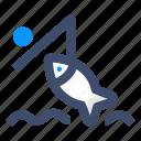 catch, fish, fisherman, fishing
