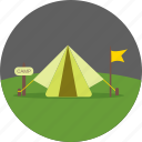 camping, holiday, outdoor, tent, travel, vacation icon