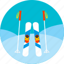 ice, ski, skiing, snow, sports, winter icon