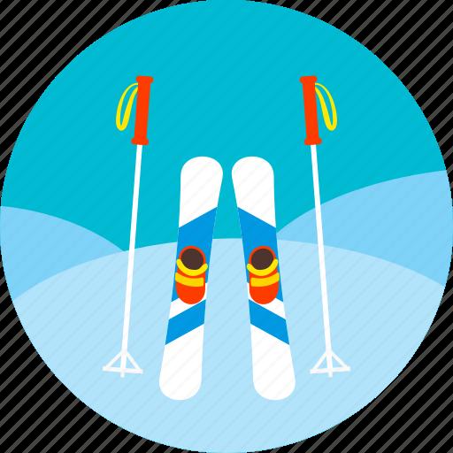 ice, ski, skiing, snow, sports, winter icon