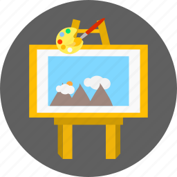 art, creative, design, drawing, painting, pencil, pointing icon