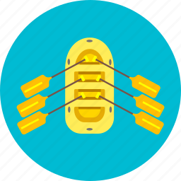 boat, paddling, rafting, rank, sporting, water icon