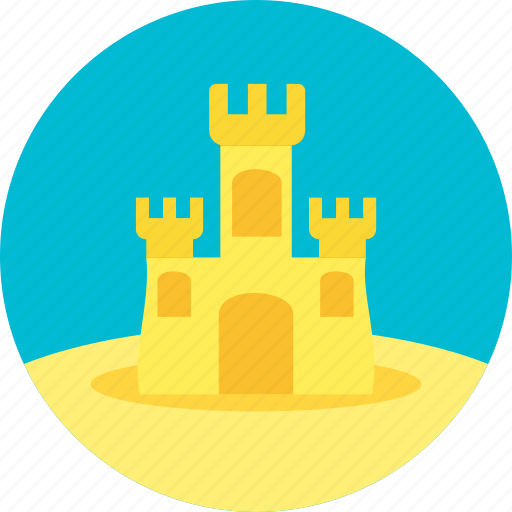 construction, creation, house, playing in the sand, sand, snd house icon