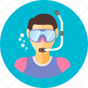 diving, play, scuba, scuba diving, sports, water icon