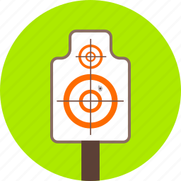 arrows, direction, goal, gun, navigation, shooting, target icon