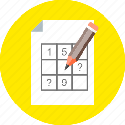 calculate, counting, crosswords, numbers, sudoku icon
