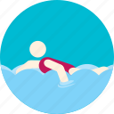 swimming, diving, floating, pool, sport, water