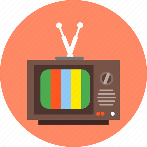 monitor, movie, television, tv, tv series, watching tv icon
