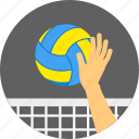 ball, game, playing, playing volley, volleyball, volly icon