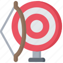activities, and, archery, arrow, bow, hobbies, pastime icon