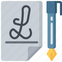 activities, calligraphy, hobbies, pastime, writing icon