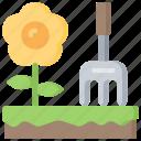 activities, gardening, hobbies, pastime, sun icon